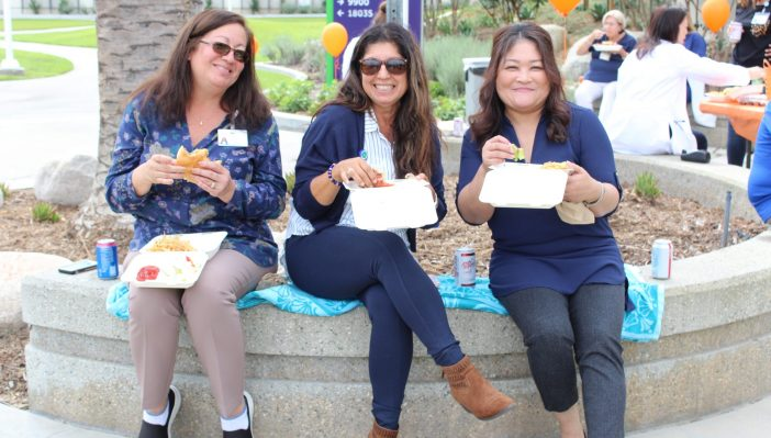 Photo of staff enjoying their lunch during Best of OC 2019 celebration