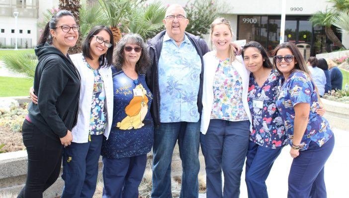 Photo of Dr. Burton Willis and the pediatric staff